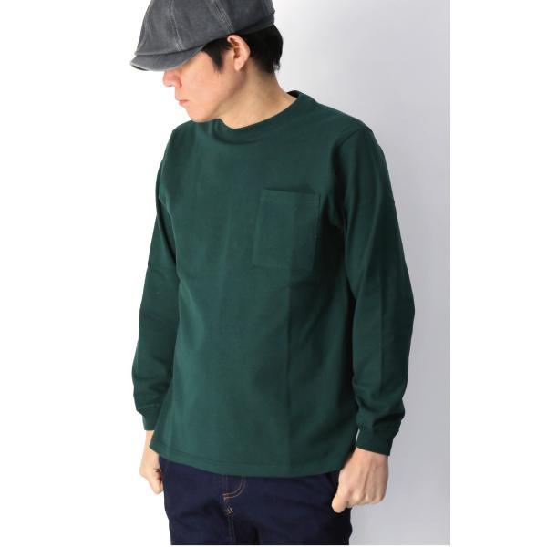 (グッドウエアー) Goodwear ロングスリーブ クルーネック ポケット Tシャツ ヘビーウエイト USAコットン カットソー メンズ レディース retom 09