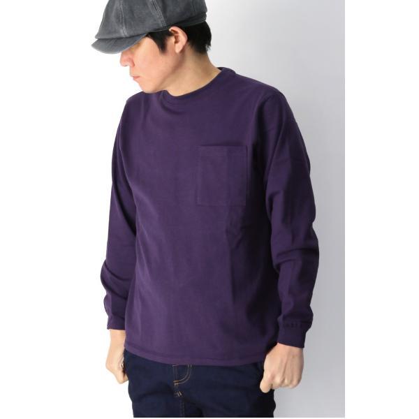 (グッドウエアー) Goodwear ロングスリーブ クルーネック ポケット Tシャツ ヘビーウエイト USAコットン カットソー メンズ レディース retom 10