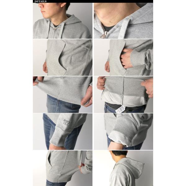 (アビレックス) AVIREX アヴィレックス【デイリーシリーズ】ジップアップ 裏毛 スウェット シャツ パーカー フルジップ メンズ レディース|retom|16