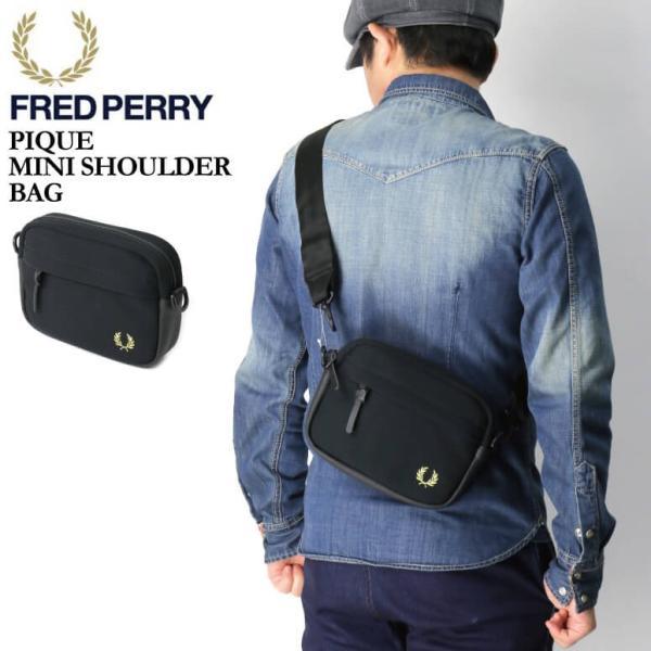 (フレッドペリー) FRED PERRY ピケ ミニ ショルダーバッグ ショルダーバッグ ポーチ 鹿の子素材 メンズ レディース|retom