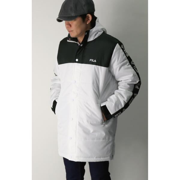 (フィラ) FILA 中綿入り ベンチ コート セミロング コート フードコート メンズ レディース|retom|02