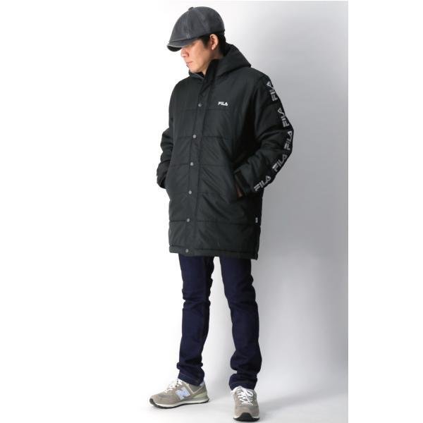(フィラ) FILA 中綿入り ベンチ コート セミロング コート フードコート メンズ レディース|retom|06