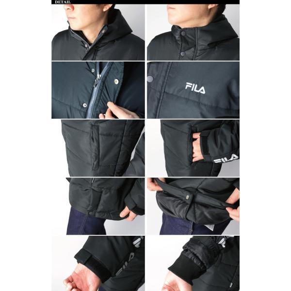 (フィラ) FILA 中綿入り ベンチ コート セミロング コート フードコート メンズ レディース|retom|09