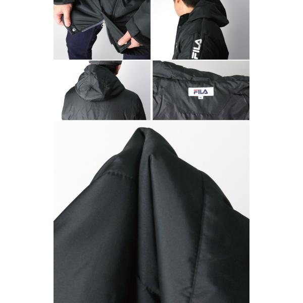 (フィラ) FILA 中綿入り ベンチ コート セミロング コート フードコート メンズ レディース|retom|10
