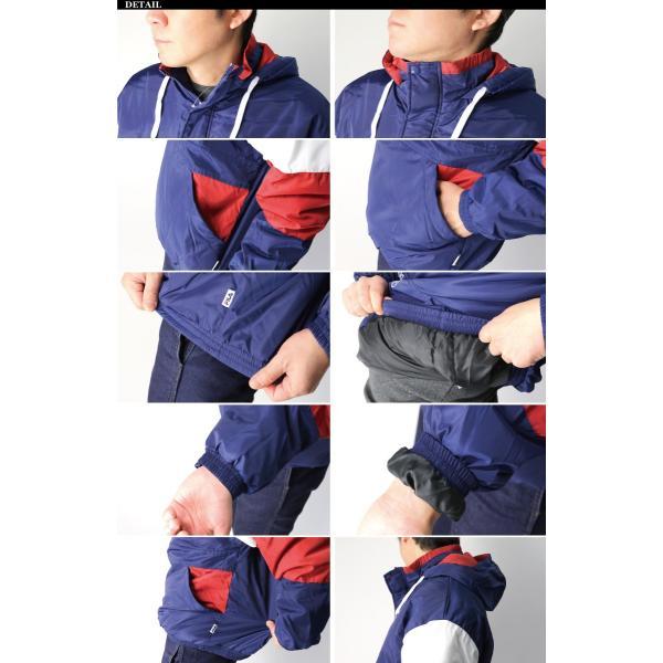 (フィラ) FILA 中綿入り アンロック フード ジャケット ハーフジップ パーカー メンズ レディース retom 11