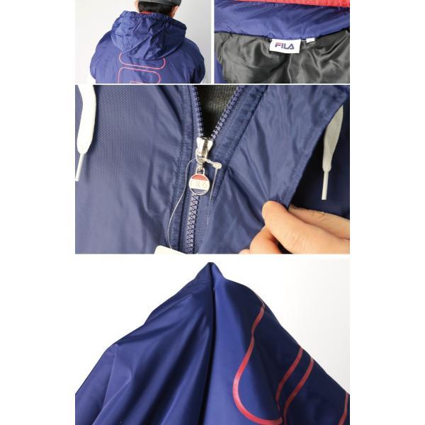 (フィラ) FILA 中綿入り アンロック フード ジャケット ハーフジップ パーカー メンズ レディース retom 12