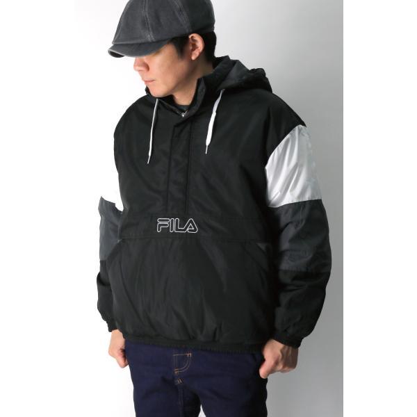 (フィラ) FILA 中綿入り アンロック フード ジャケット ハーフジップ パーカー メンズ レディース retom 04