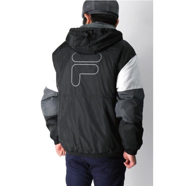 (フィラ) FILA 中綿入り アンロック フード ジャケット ハーフジップ パーカー メンズ レディース retom 05