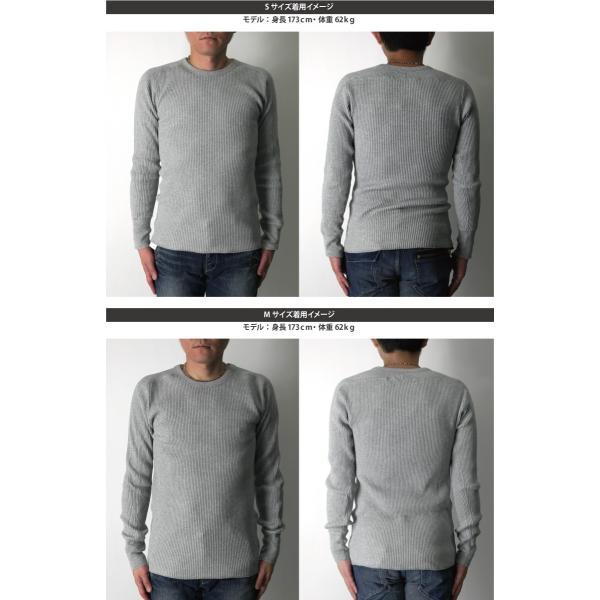 (ヘルスニット) Healthknit スーパーヘビー ワッフル ロングスリーブ クルーネック Tシャツ カットソー メンズ レディース|retom|12