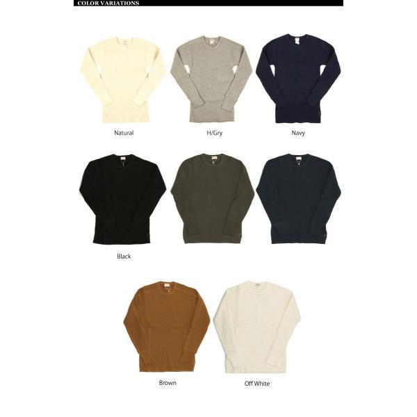 (ヘルスニット) Healthknit スーパーヘビー ワッフル ロングスリーブ クルーネック Tシャツ カットソー メンズ レディース|retom|13