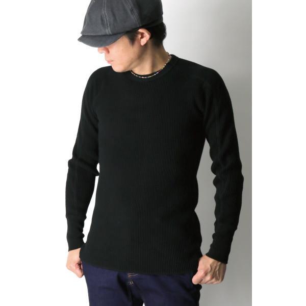 (ヘルスニット) Healthknit スーパーヘビー ワッフル ロングスリーブ クルーネック Tシャツ カットソー メンズ レディース|retom|04