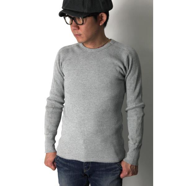 (ヘルスニット) Healthknit スーパーヘビー ワッフル ロングスリーブ クルーネック Tシャツ カットソー メンズ レディース|retom|09
