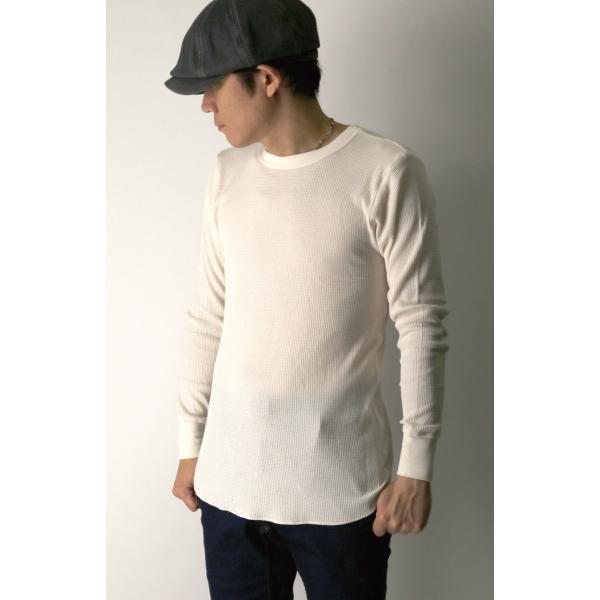 (へインズ) Hanes サーマル クルーネック ロングスリーブ Tシャツ カットソー ロンT メンズ レディース|retom|02
