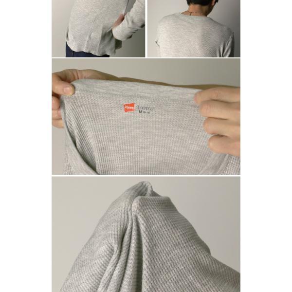 (へインズ) Hanes サーマル クルーネック ロングスリーブ Tシャツ カットソー ロンT メンズ レディース|retom|12