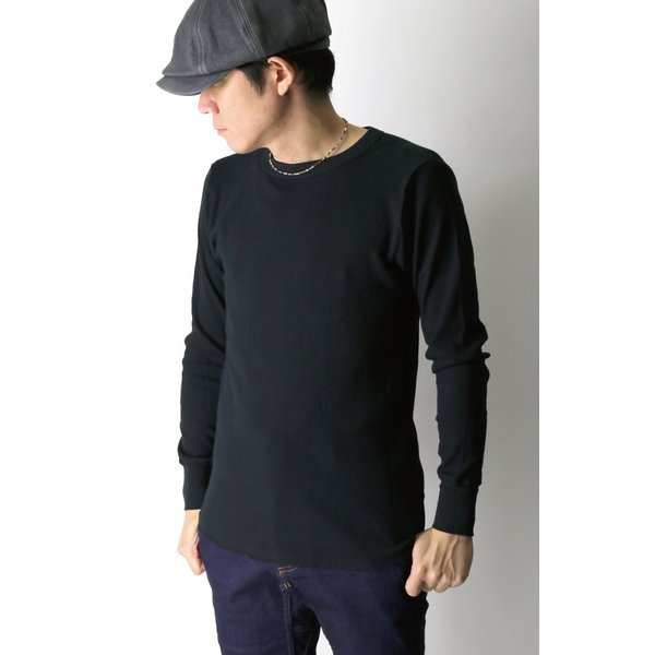 (へインズ) Hanes サーマル クルーネック ロングスリーブ Tシャツ カットソー ロンT メンズ レディース|retom|03