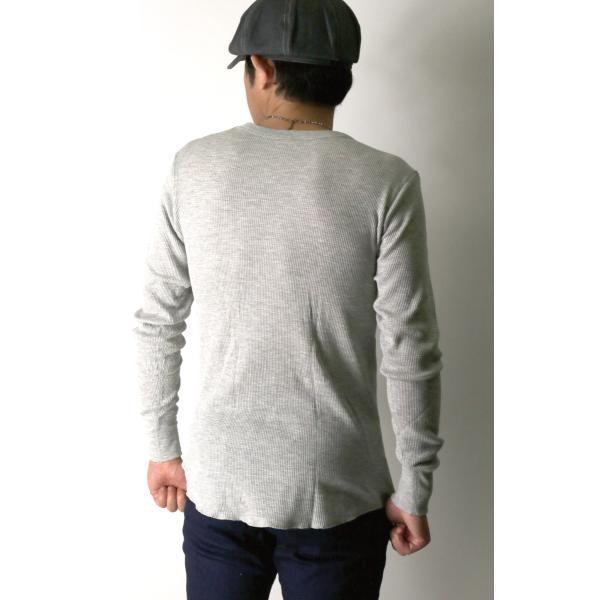 (へインズ) Hanes サーマル クルーネック ロングスリーブ Tシャツ カットソー ロンT メンズ レディース|retom|06