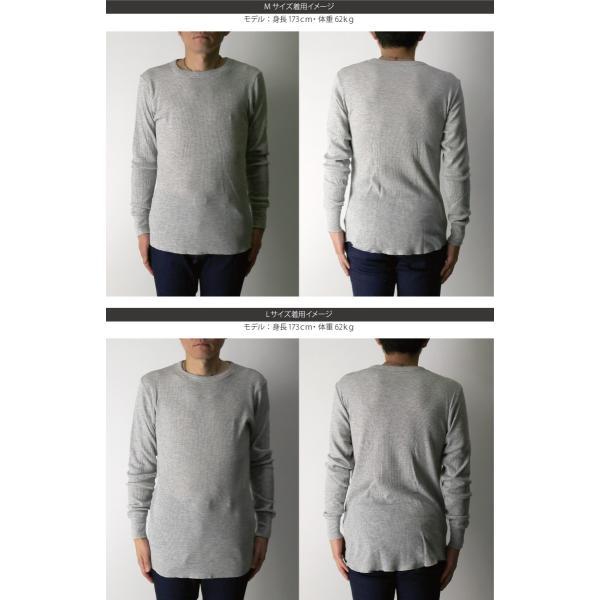 (へインズ) Hanes サーマル クルーネック ロングスリーブ Tシャツ カットソー ロンT メンズ レディース|retom|09