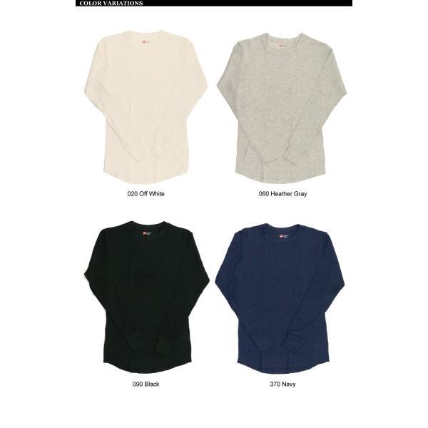 (へインズ) Hanes サーマル クルーネック ロングスリーブ Tシャツ カットソー ロンT メンズ レディース|retom|10