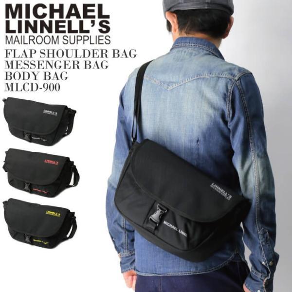 (マイケルリンネル) MICHAEL LINNELL フラップ ショルダーバッグ メッセンジャーバッグ ボディバッグ メンズ レディース retom