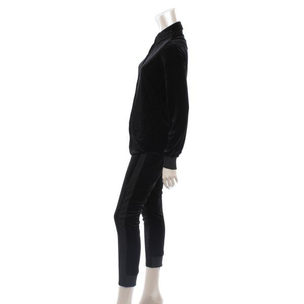 【ダブルスタンダードクロージング】DOUBLE STANDARD CLOT ベルベットシャツ&ストレッチパンツ セットアップ ブラック Free 【中古】【正規品保証】23610|retrojp|03