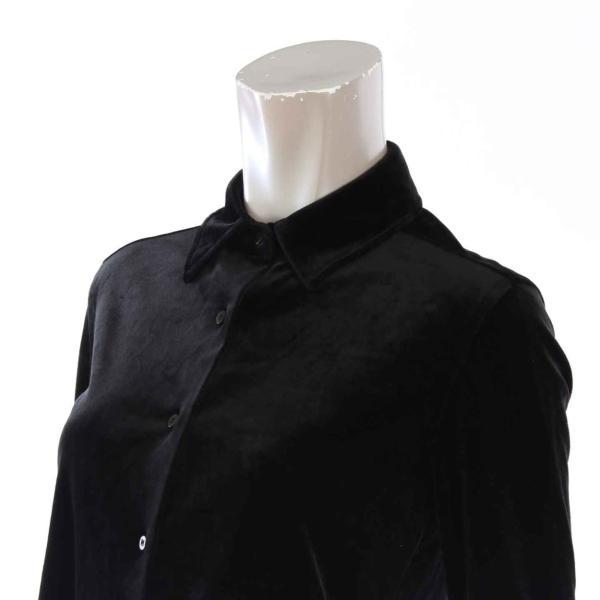 【ダブルスタンダードクロージング】DOUBLE STANDARD CLOT ベルベットシャツ&ストレッチパンツ セットアップ ブラック Free 【中古】【正規品保証】23610|retrojp|05