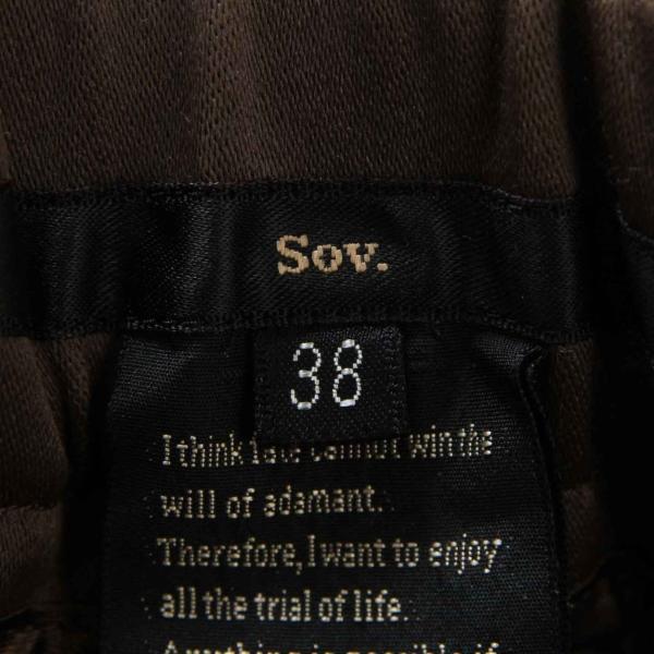 【ソブダブルスタンダードクロージング】Sov. DOUBLE STANDARD ラインパンツ ボトムス カーキ×ブラック 38 未使用【中古】【正規品保証】23625|retrojp|04