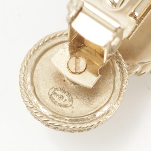 【シャネル】Chanel B14P アイコン コイン バレッタ ゴールド  【中古】【正規品保証】29477