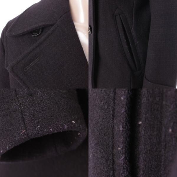 61fbd71d20e067 ... 【バーバリーブラックレーベル】Burberry Black Label メンズ Pコート アウター ブラック M 【中古 ...