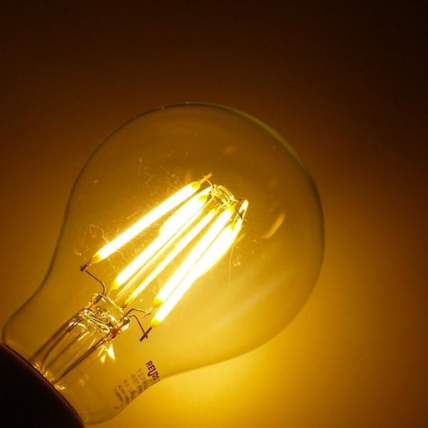 ReUdo LEDフィラメント電球 クリアガラス 全方向タイプ E26口金 一般電球40W形相当 全光束450lm 消費電力4W 電球色2700K 1個単品