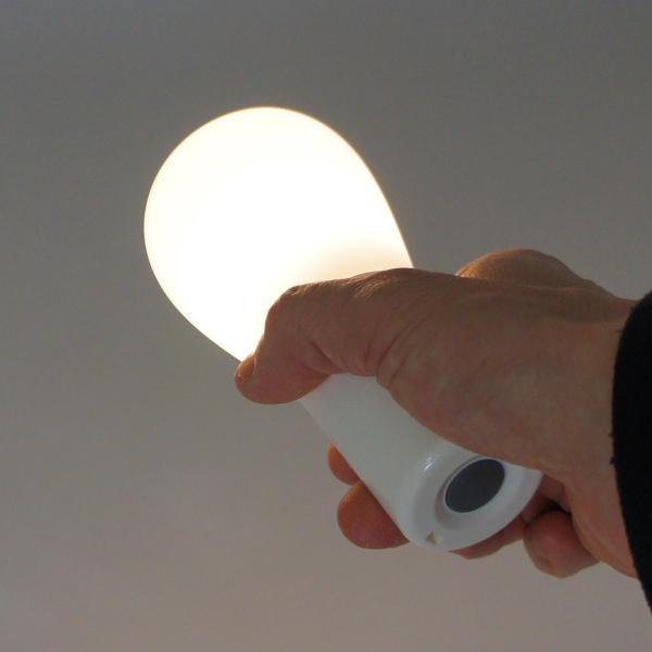 LEDランタン 電球形テーブルランプ 電球色 3000K ホワイト reudo 05