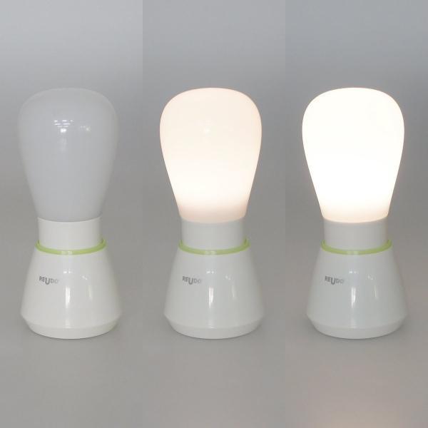 LEDランタン 電球形テーブルランプ 電球色 3000K ホワイト reudo 06