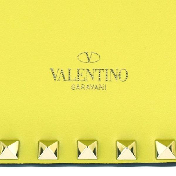 ヴァレンティノ VALENTINO ロックスタッズ イエロー レザー クラッチバッグ・セカンドバッグ ec 【中古】