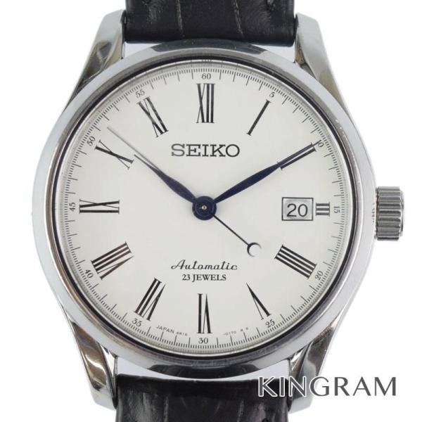 セイコー SEIKO Ref.SARX019 6R15-02P0 プレサージュ 裏スケ 琺瑯文字盤 自動巻 メンズ 腕時計 ec 【中古】