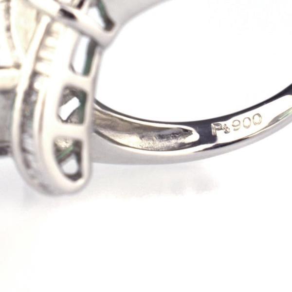 ノーブランド Generic items リング Pt900 エメラルド ダイヤ 12号 クリーニング済  kuse 【中古】