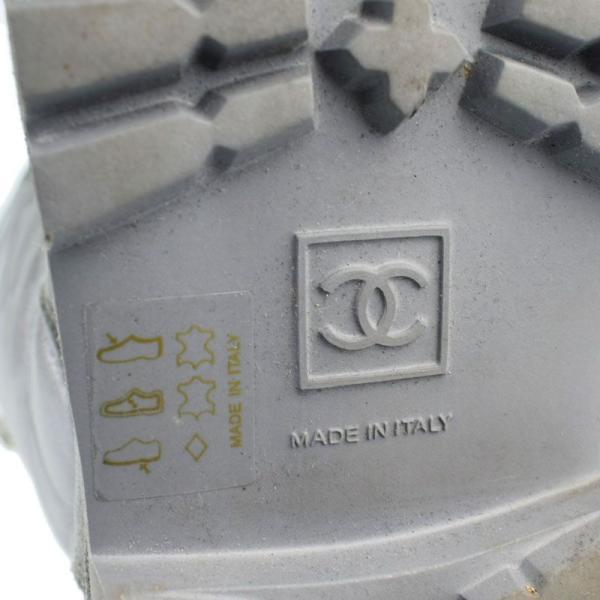 シャネル CHANEL ココマーク マトラッセ コココクーン G26537 グレー スエード レディース ブーツ rke 【中古】