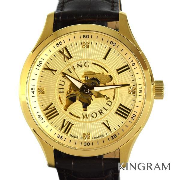 ハンティングワールドアーバンクエストスケルトンウォッチ950本 自動巻メンズ腕時計rng 中古