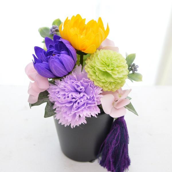 【ソープフラワー】仏花 お供え ギフト  送料無料  アレンジ  お悔やみ 香り付き お仏前 ご霊前