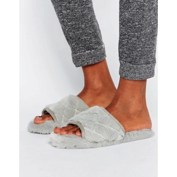エイソス レディース サンダル シューズ ASOS NITA Quilted Loungewear Slippers