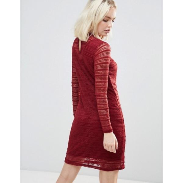 ビーヤング レディース ワンピース トップス b.Young Lace Dress With Sheer Panels