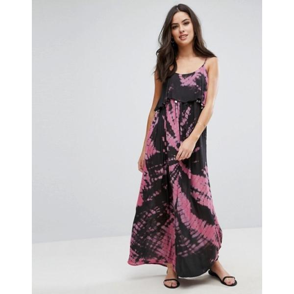 アンモル レディース ワンピース トップス Anmol Tie Dye Maxi Beach Dress With Coin Embellishment