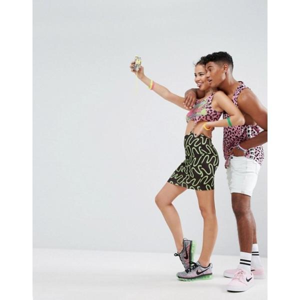 エイソス レディース ワンピース トップス ASOS x MTV Clip Middle Bodycon Dress In Spliced Leopard Print