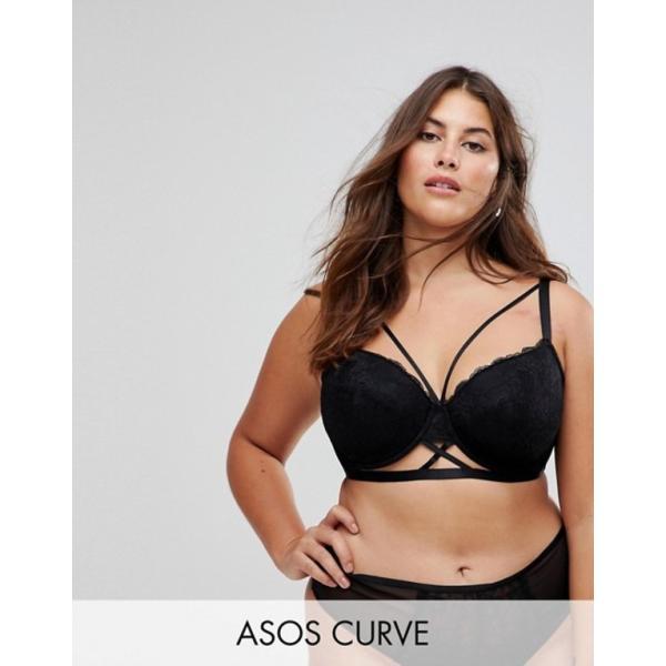 エイソス レディース ブラジャー アンダーウェア ASOS CURVE Becca Strappy Lace Molded Bra