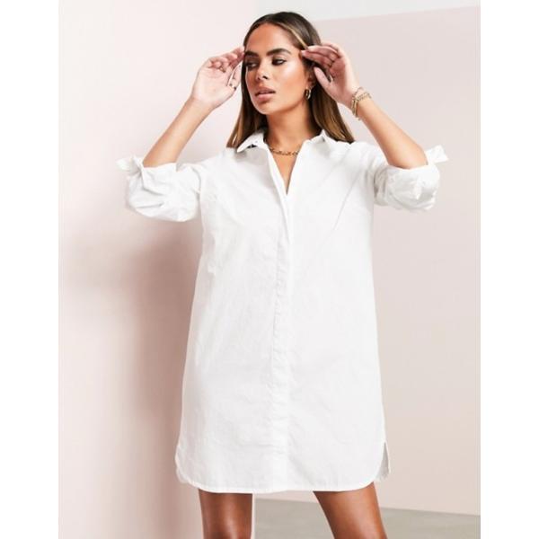 エイソス レディース ワンピース トップス ASOS Cotton Mini Shirt Dress