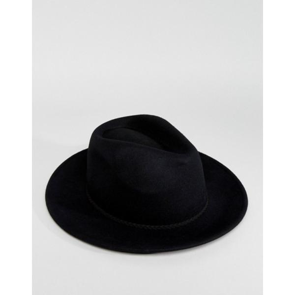 エイソス レディース 帽子 アクセサリー ASOS DESIGN felt panama hat with braid braid trim with size adjuster|revida|02