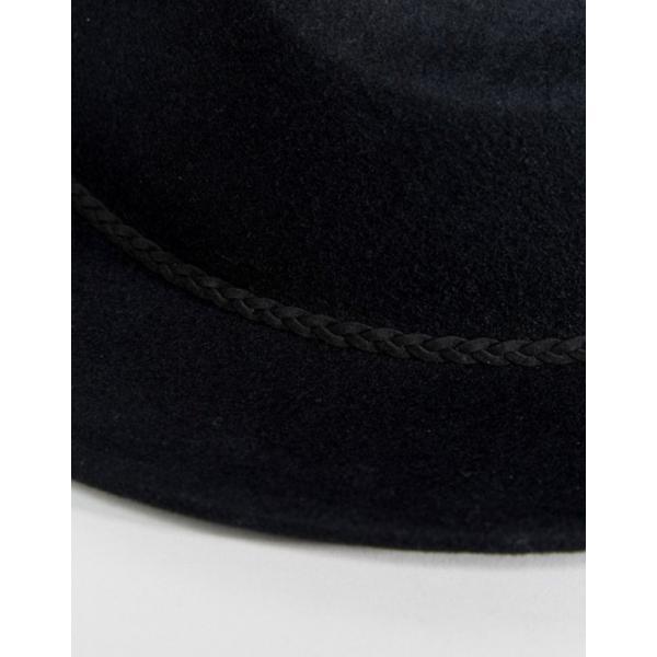 エイソス レディース 帽子 アクセサリー ASOS DESIGN felt panama hat with braid braid trim with size adjuster|revida|03