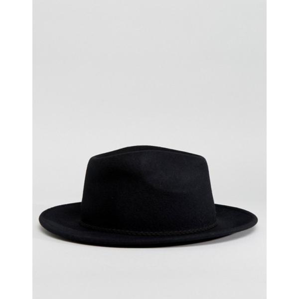 エイソス レディース 帽子 アクセサリー ASOS DESIGN felt panama hat with braid braid trim with size adjuster|revida|04