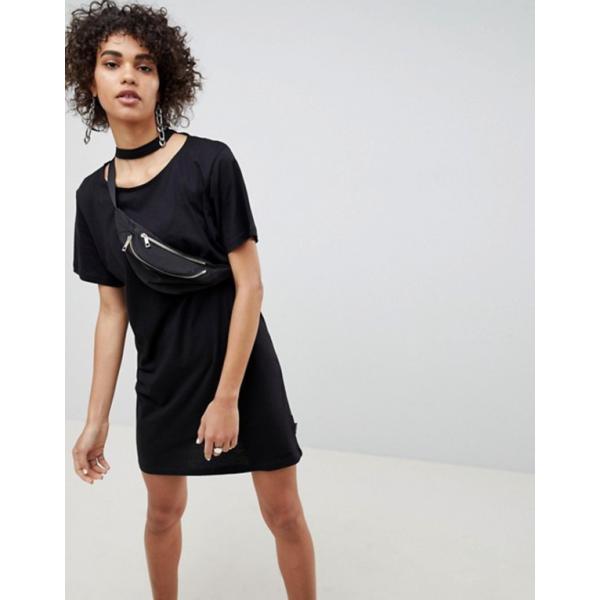 チープマンデー レディース ワンピース トップス Cheap Monday Belong Neck Strap Shift Dress