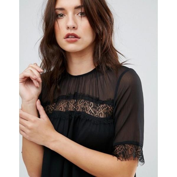 ワイエーエス レディース ワンピース トップス Y.A.S Cicotta Lace Insert Dress