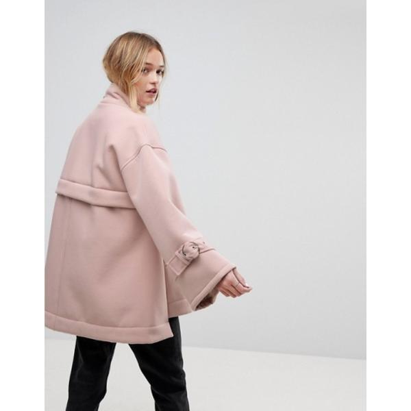 エイソス レディース ジャケット・ブルゾン アウター ASOS Bonded Jacket with Fleece Lining and Metalwear