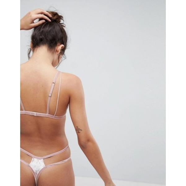 エイソス レディース ブラジャー アンダーウェア ASOS Vedette Velvet & Lace Triangle Bra